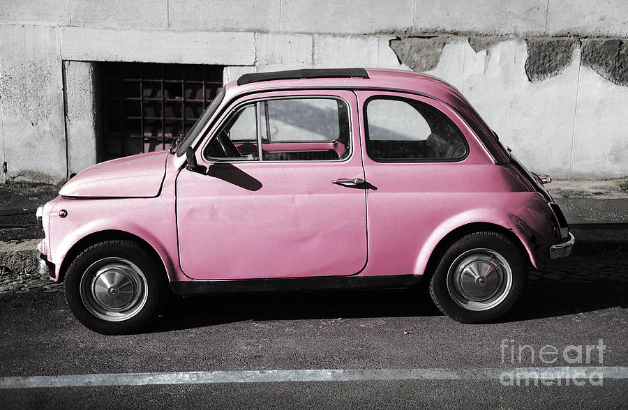 Old Pink Fiat 500 Photograph By Stefano Senise