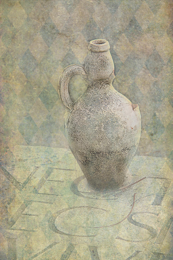 Old Photograph - Old Pitcher Abstract by Garry Gay