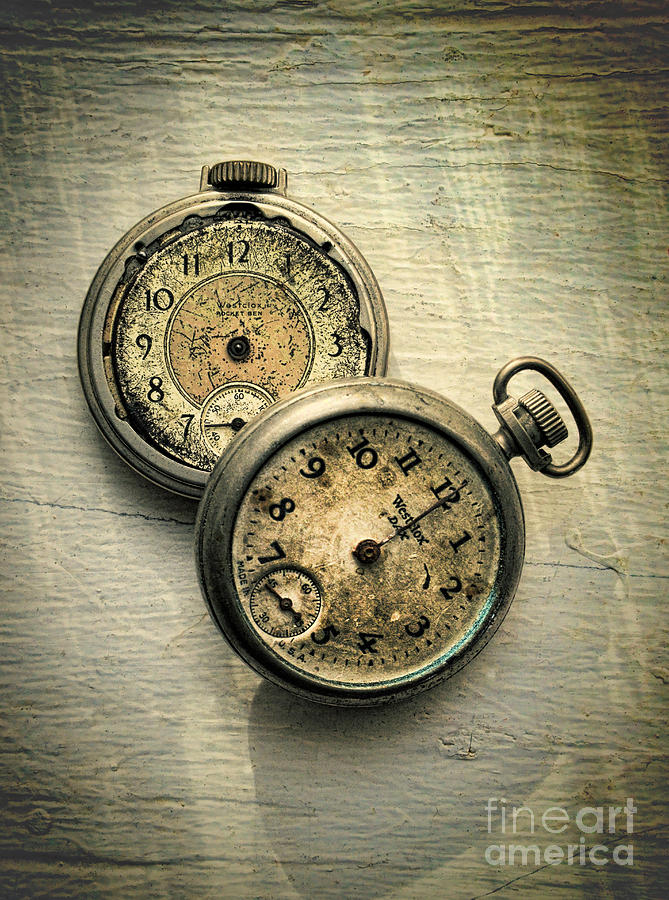 Old Pocket Watches Photograph by Jill Battaglia
