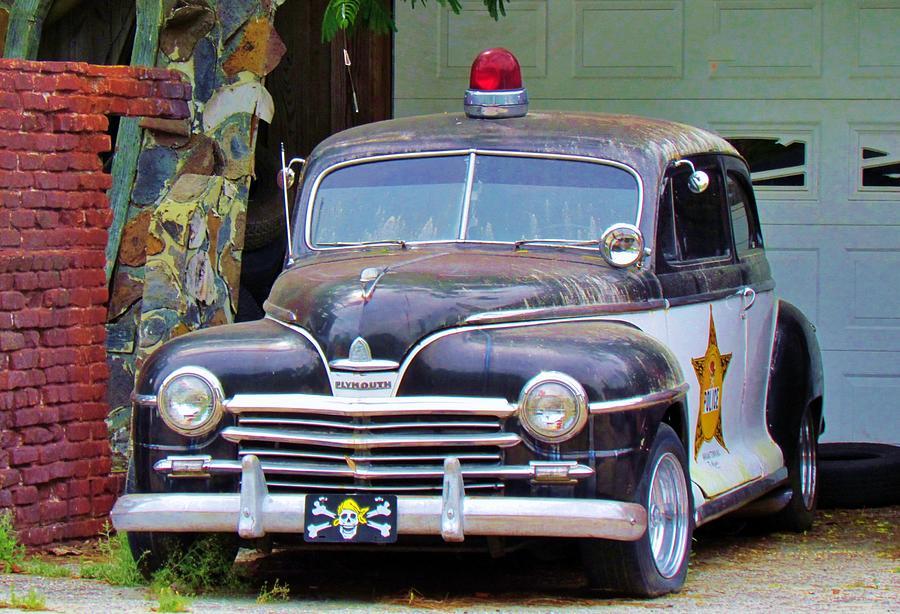 Old Police Car Photograph by Cynthia Guinn