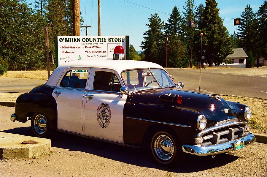 Cop Cars For Sale >> Old Police Car Photograph by Richard Jenkins
