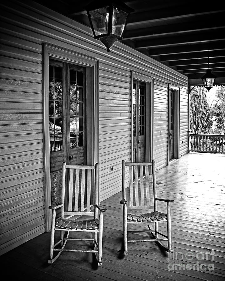 Porch Photograph - Old Porch Rockers by Perry Webster