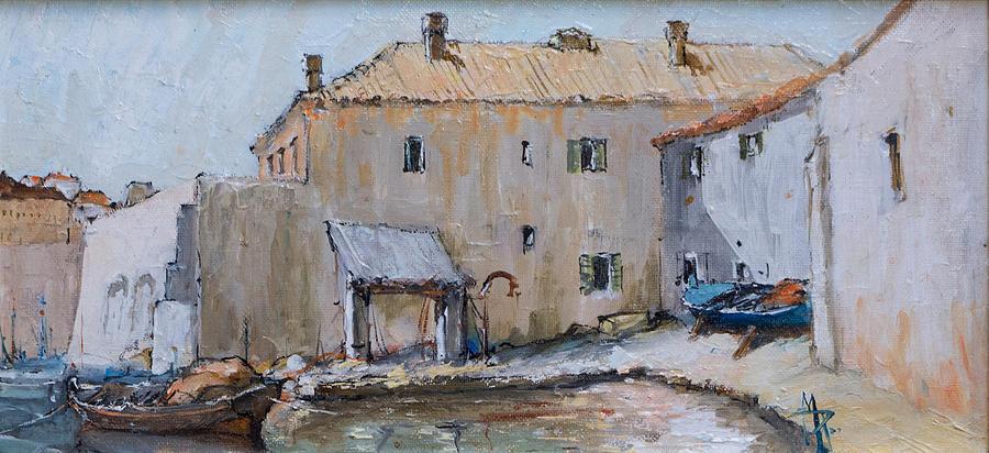 Old Port Dubrovnik Porat Kapetanija Painting By Pavo
