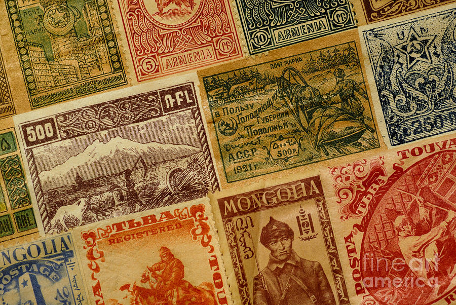 Old Postage Stamps From Around The World