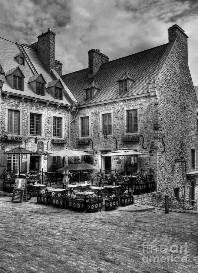 Quebec Photograph - Old Quebec City Bw by Mel Steinhauer