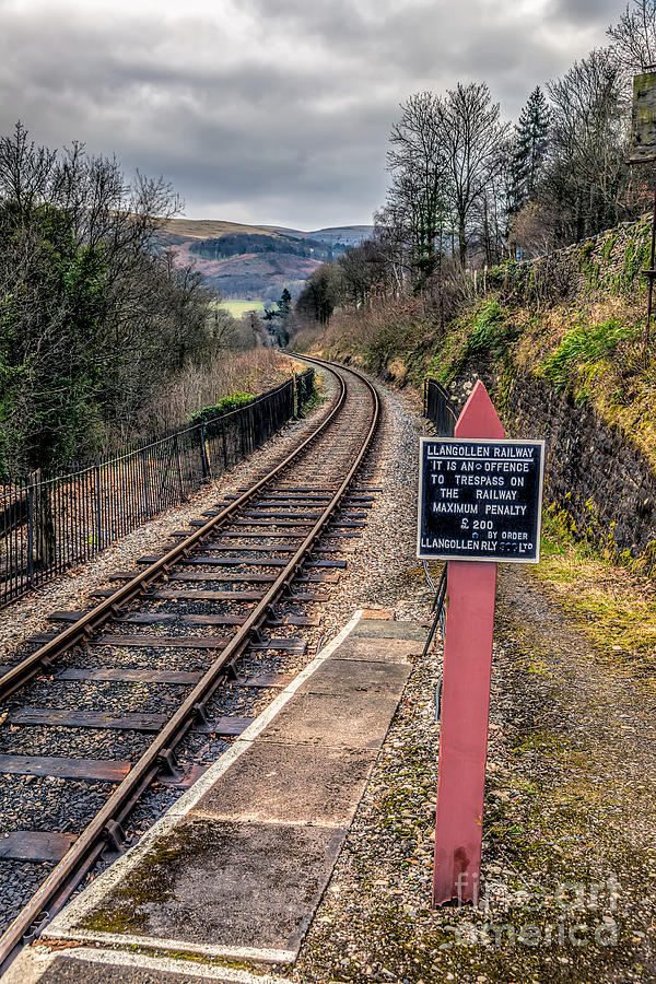 British Photograph - Old Railway Sign by Adrian Evans