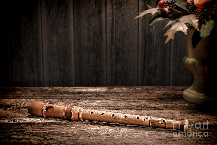 Flute Photograph - Old Recorder by Olivier Le Queinec