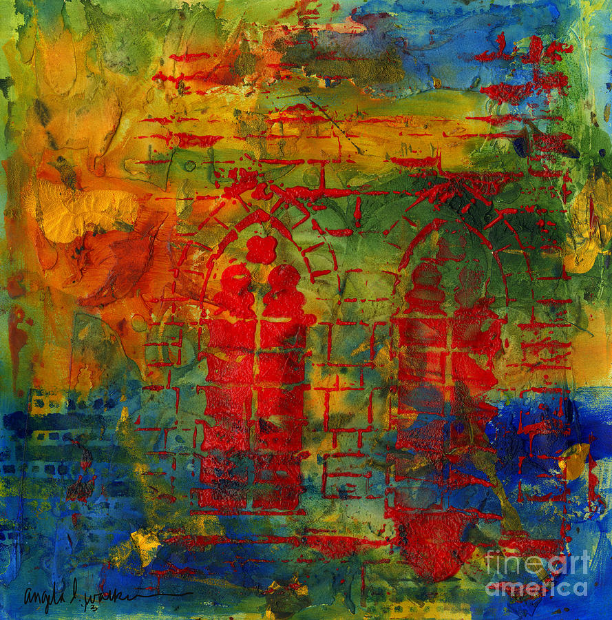 Old Red Cathedral Mixed Media