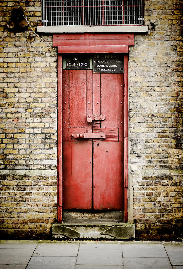 Door Photograph - Old Red Door by Heather Applegate & Old Red Door Photograph by Heather Applegate