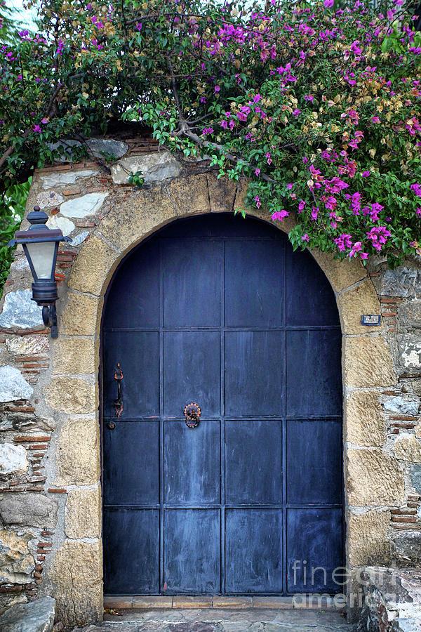 Old Retro Wooden Blue Door Photograph by 79mtk