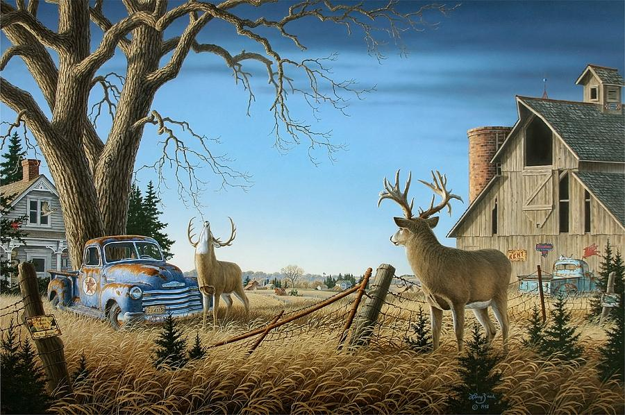 Old Rivals Two Painting by Larry Zach