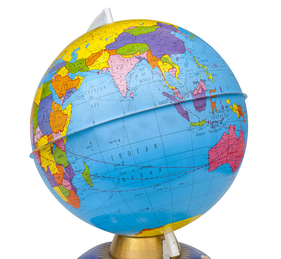 Map Of The Globe Of The World.Old Rotating World Map Globe By Donald Erickson