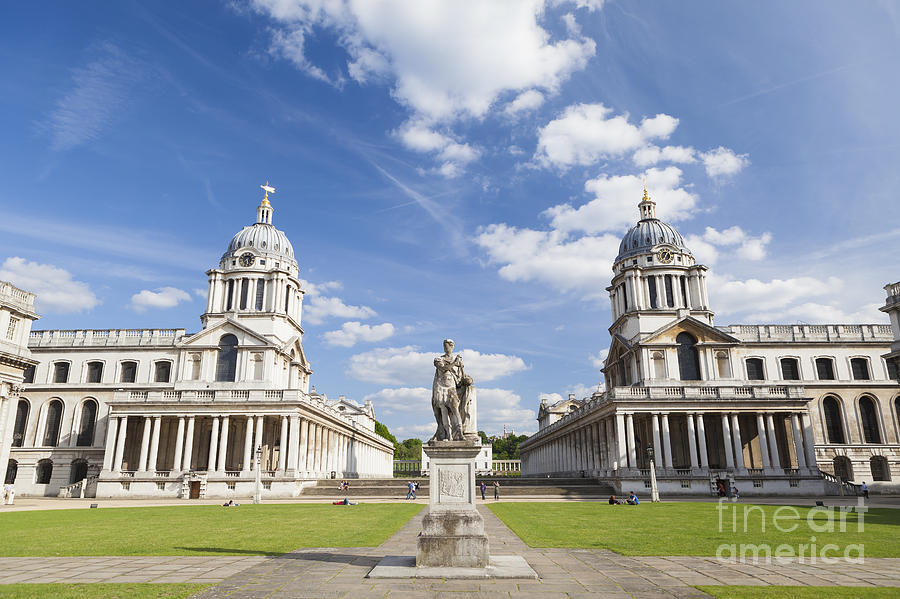 England Photograph - Old Royal Naval College In Greenwich by Roberto Morgenthaler
