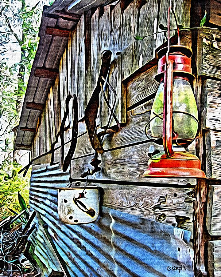 Old Tools Photograph - Old Rustic Building - Aunt Tinys Shed  by Rebecca Korpita