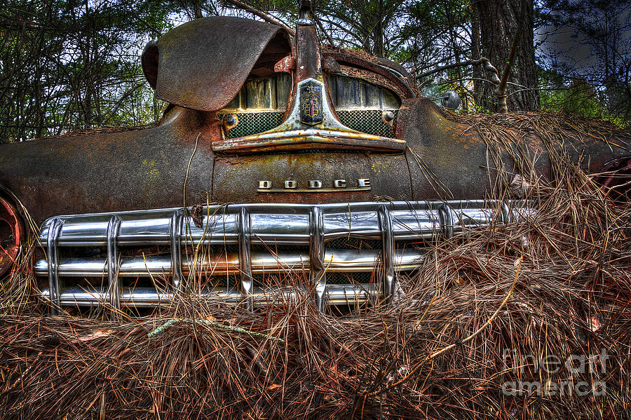 Fine Photograph - Old Rusty Dodge by Ken Johnson