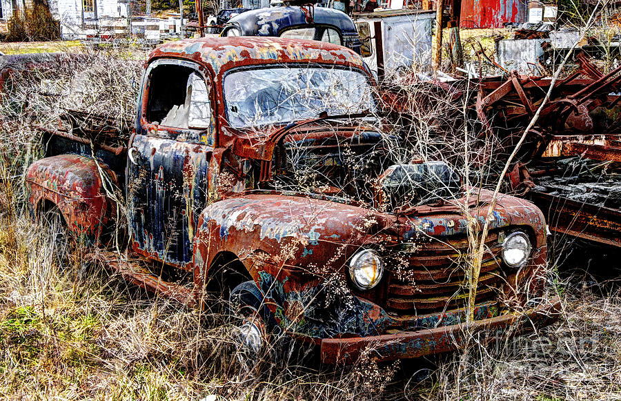Old Rusty Ford Truck Photograph by Paul Mashburn