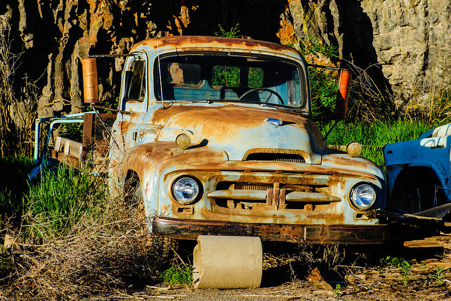 Old Rusty International Flatbed Truck Photograph by Steve G Bisig