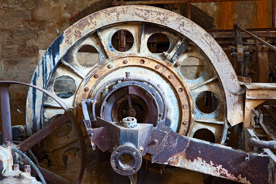 Old Rusty Vintage Industrial Machinery Photograph by Dirk ...  Old Rusty Vinta...