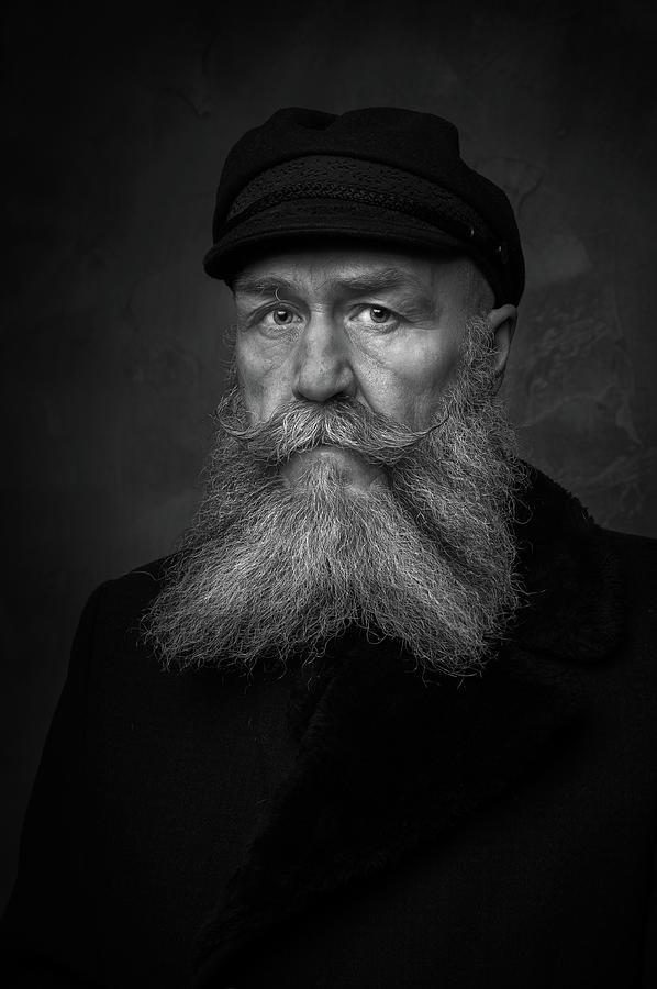 Portrait Photograph - Old Sailor by Gareth Jenkins