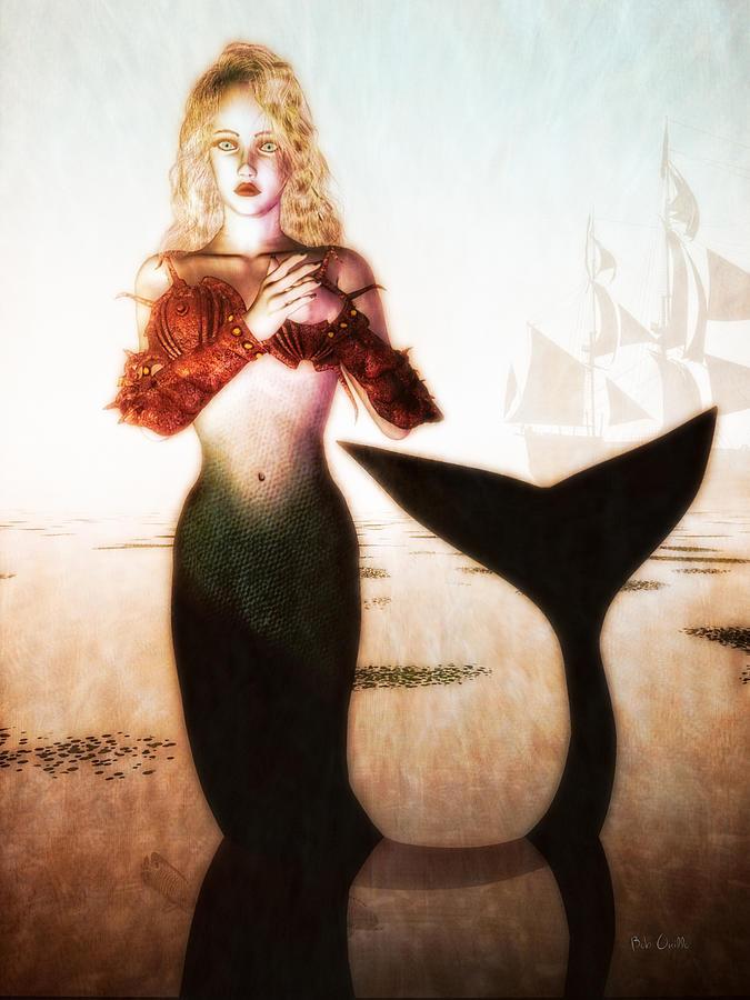 Mermaids Digital Art - Old Sailors Dream - The Mermaid by Bob Orsillo