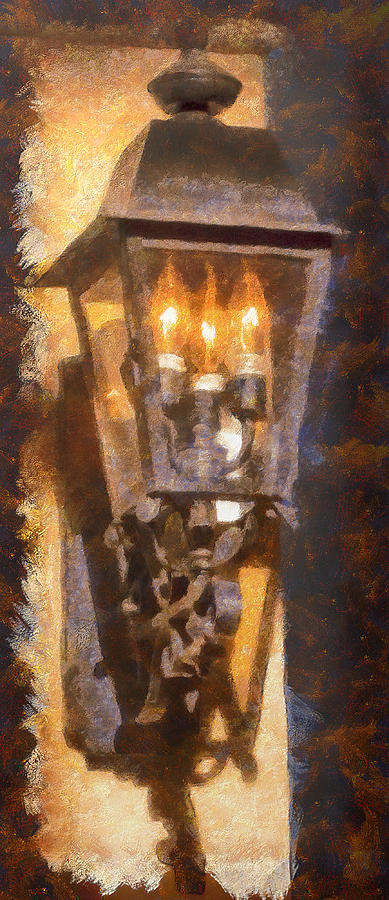 Old Santa Fe Lamp Photograph