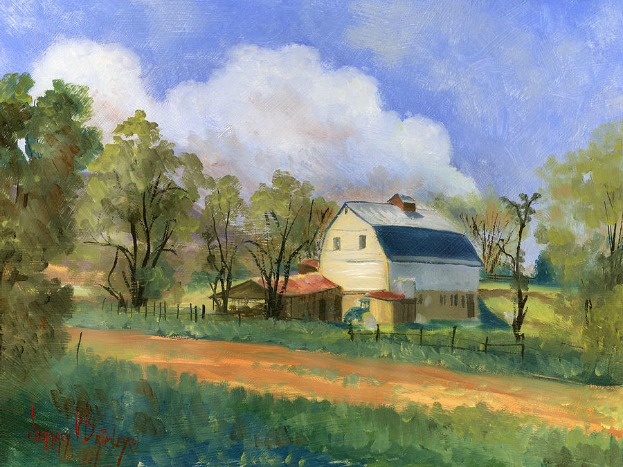 Saunders Painting - Old Saunders Barn by Jeff Brimley