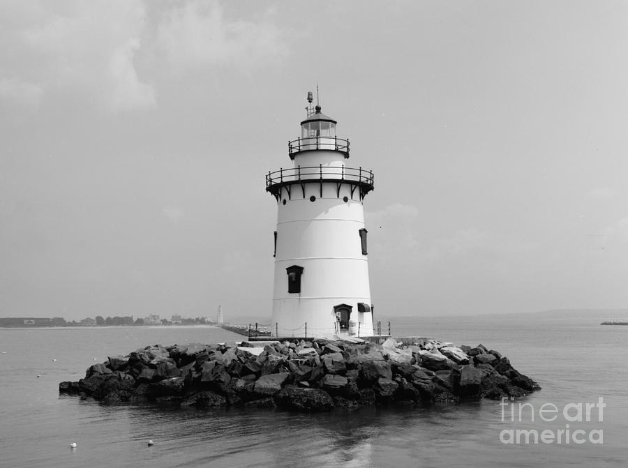 Lighthouse Photograph - Old Saybrook Connecticut Lighthouse by Edward Fielding