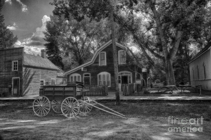 Agriculture Photograph - Old Scene-baker Wagon by Darcy Michaelchuk