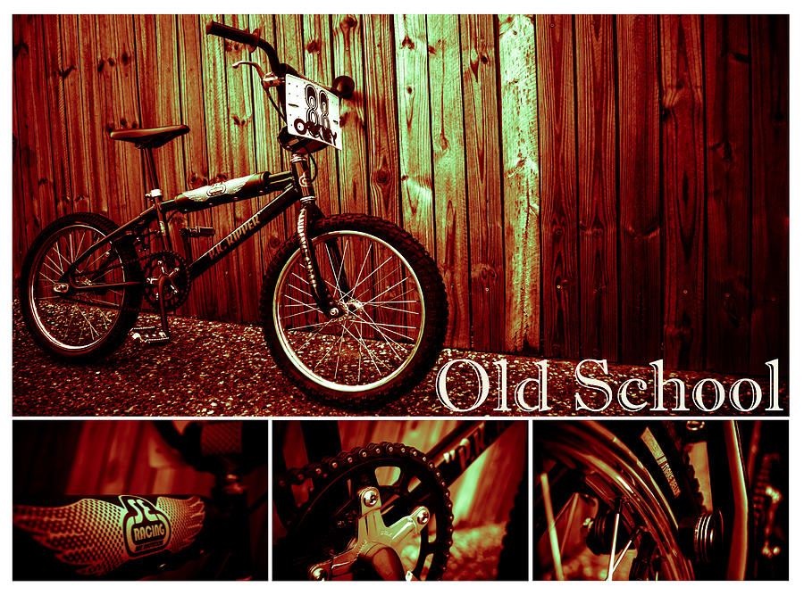 Bmx Photograph - Old School Bmx - Pk Collage Colour by Jamian Stayt