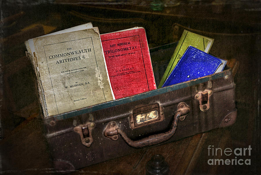 Hdr Photograph - Old School Days by Kaye Menner