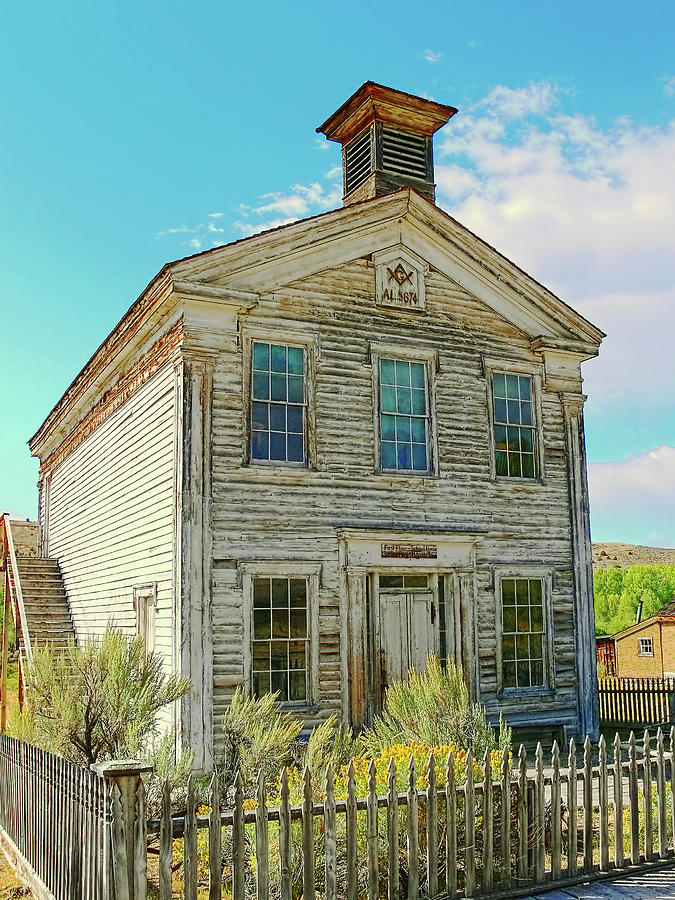 School Photograph - Old School House Bannack Ghost Town Montana by Jennie Marie Schell
