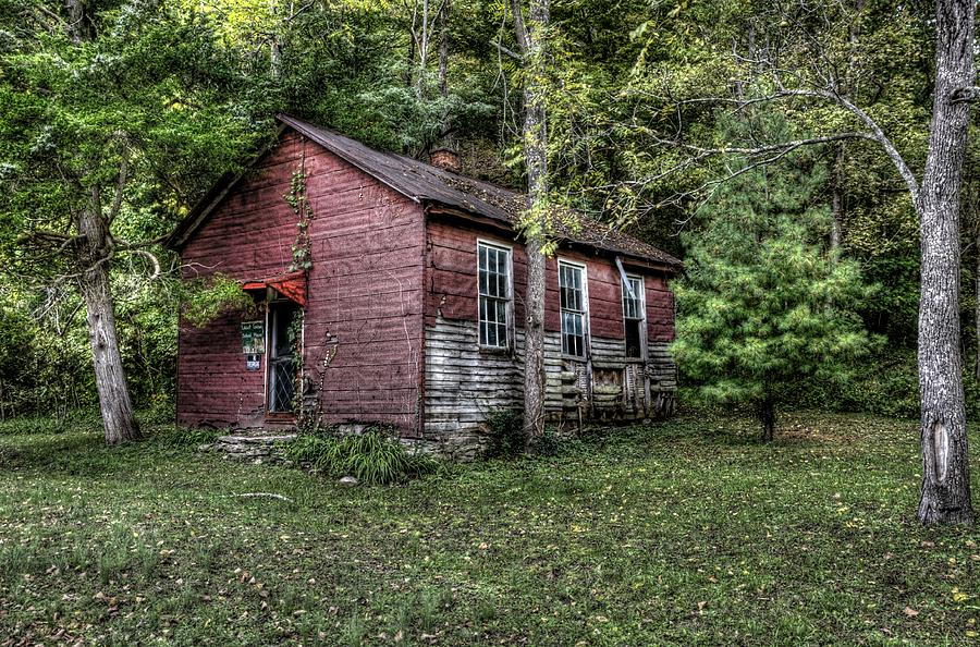 Indiana Photograph - Old School House by Sharon Meyer