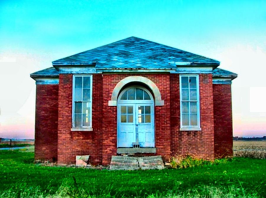 Schools Photograph - Old Schoolhouse by Julie Dant