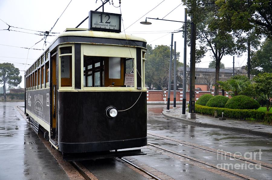 Trolley Photograph - Old Shanghai Trolley Tram Car Rests In Tracks by Imran Ahmed