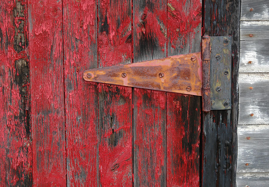 Gatineau Photograph - Old Shed Door Hinge. by Rob Huntley