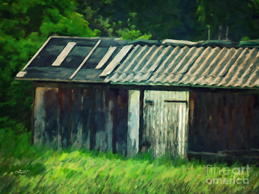 Photo Photograph - Old Shed by Jutta Maria Pusl