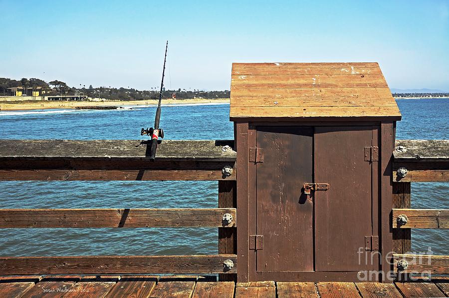 Susan Wiedmann Photograph - Old Shed On Ventura Pier by Susan Wiedmann