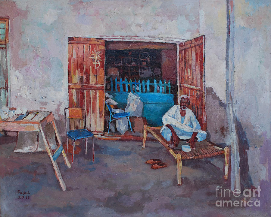 Old Shop Suakin Painting by Mohamed Fadul