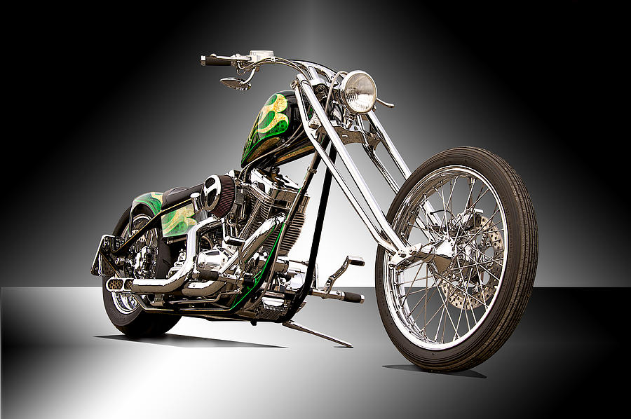 Bike Photograph - Old Skool Chopper II by Dave Koontz