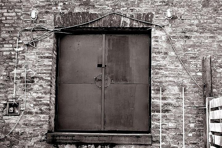 Old Steel Door : Old steel door with wires photograph by peter kallai