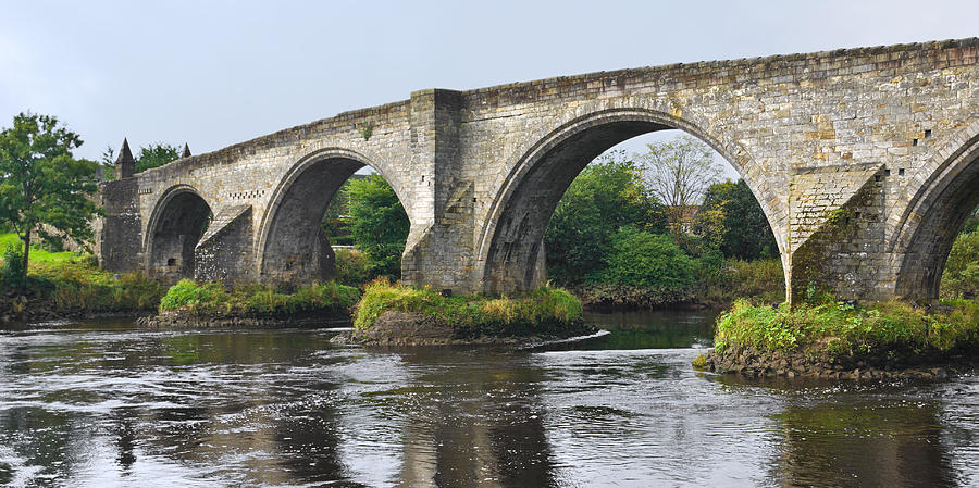 Old Bridge Photograph - Old Stirling Bridge Scotland by Jane McIlroy