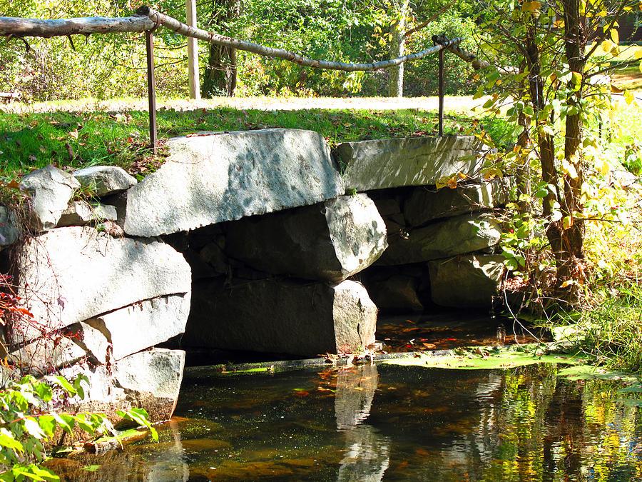 Bridge Photograph - Old Stone Bridge by Barbara McDevitt