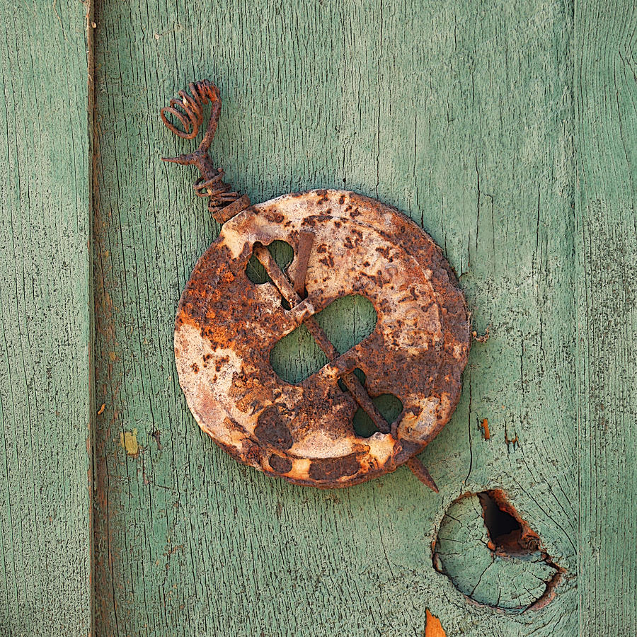 Chimney Photograph - Old Stove Valve by Art Block Collections