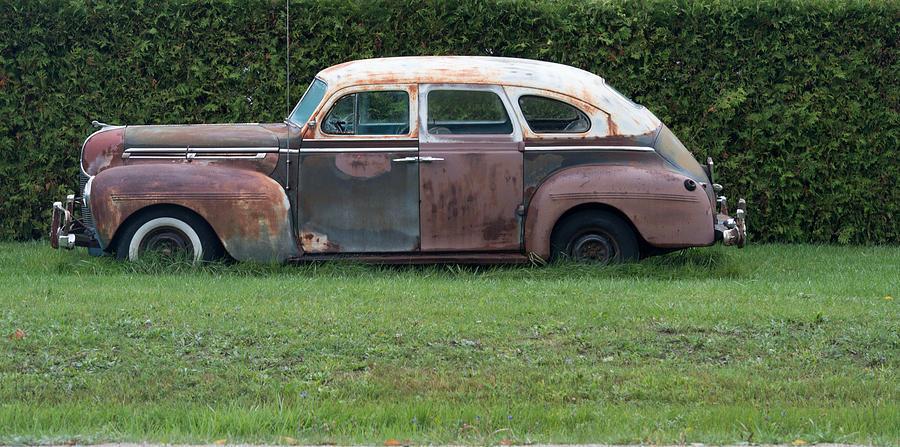 Car Photograph - Old Style by Linda Kerkau