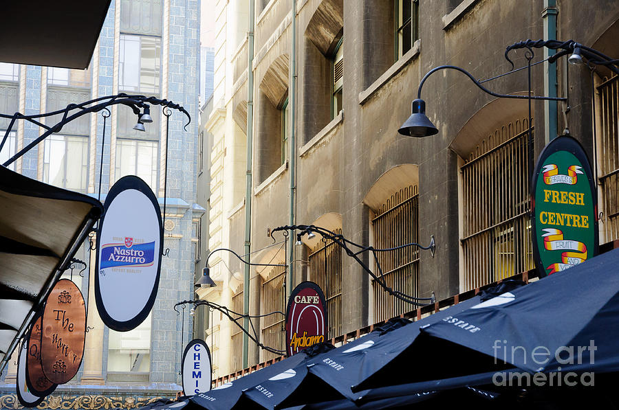 Melbourne Photograph - Old-style Signs Above A Melbourne Laneway by David Hill