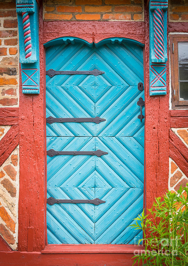 Europa Photograph - Old Swedish Door by Inge Johnsson