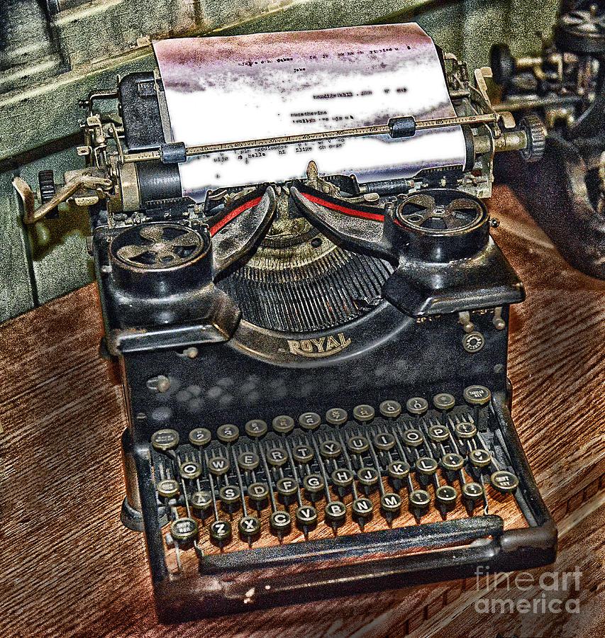 Typewriter Photograph - Old Technology by Arnie Goldstein