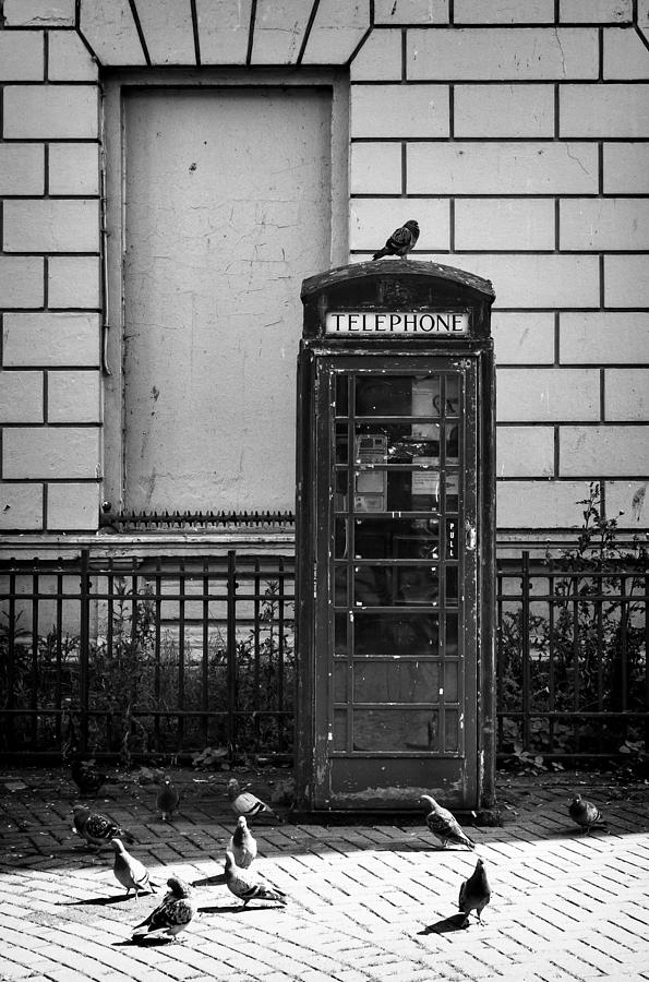 Telephone Photograph - Old Telephone Box by Jim Orr