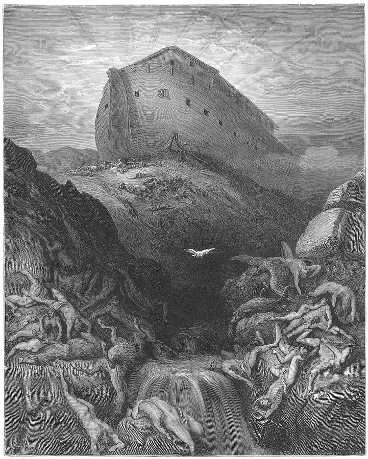 Old Testament -- Noah's Ark, Resting Drawing by Mary Evans ...
