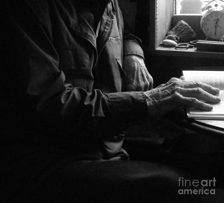 Hands Photograph - Old Testament Wisdom by Joe Jake Pratt